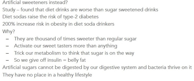 artificial sweeteners ZP Lesson