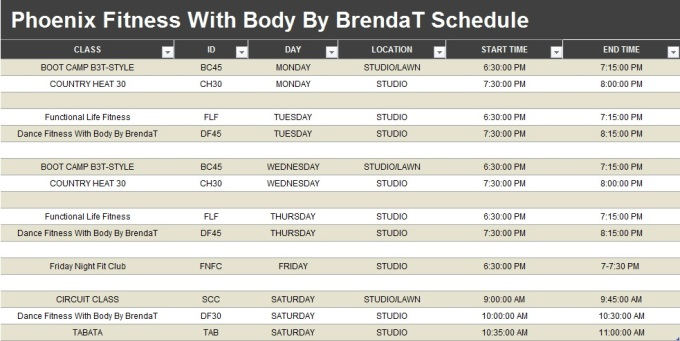 phoenix-fitness-schedule