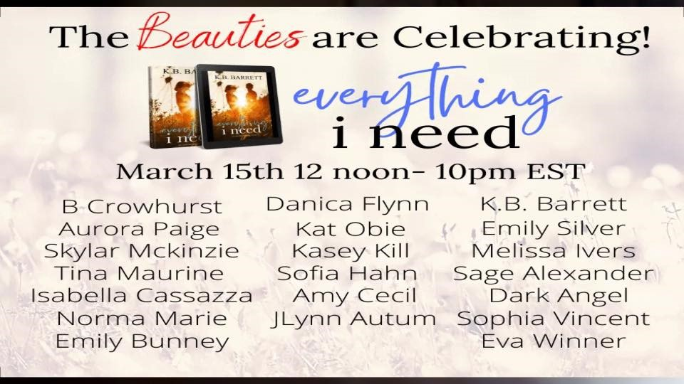 BeauÜces are Celebrating!  i eed  March 15th 12 noon— IOprn EST  B Crowhurst Danica Flyn n  VS.B. Barrett  Aurora Paige  Skylar Mckinzie  Emily Silver  Kat Obie  Melissa Ivers  Kasey Kill  Sofia Hahn Sage Alexander  Tina Maurine  Isabella Cassazza Amy Cecil  Norma Marie J Lynn Autum Sophia Vincent  Emily Bunney  Eva Winner